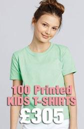 100 x Gildan Kids Softstyle® Ringspun T-Shirts Deal
