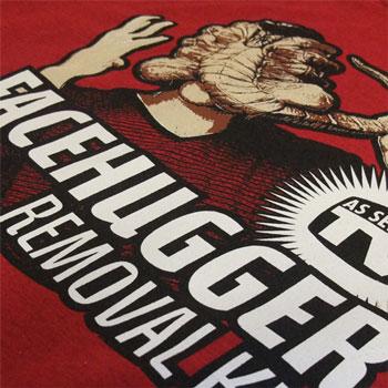 photo of Face Hugger (from the film Alien) t-shirt print