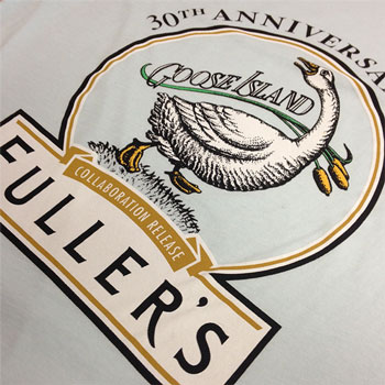 photo of Fullers Brewery t-shirt print